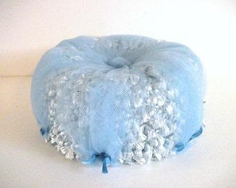 Vintage Blue Tulle Hat
