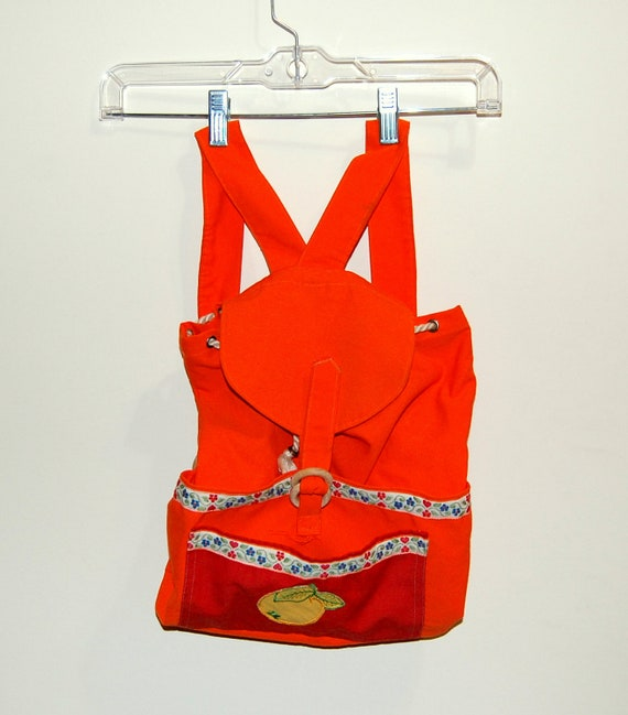 Vintage 70s Orange Backpack