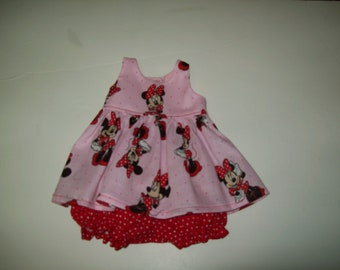 "Baby Alive  And Waldorf Doll Clothes Adorable Dress 10"" 12"" Or 15"" Minnie Mouse"