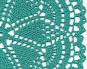 Christmas gift, Crochet doily, lace doilies, eco friendly, crocheted doilie, linen doily, hand made, table runner, napkin, Teal