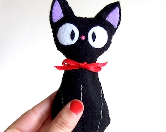 Jiji (from kiki's delivery service by studio ghibli) Black cat plushie