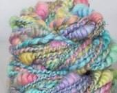 Handspun Art Yarn - Sweet Tart Sparkle