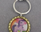 My Little Pony Keyring with Lobster Swivel Clasp  - Ideal to Clip onto School Bag