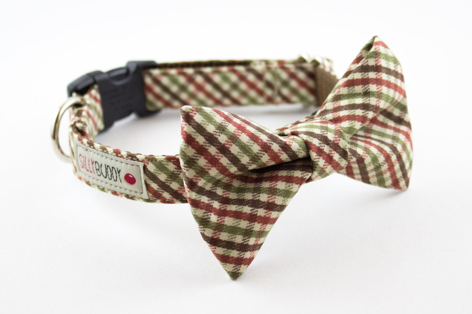 autumn mini plaid bow tie collar