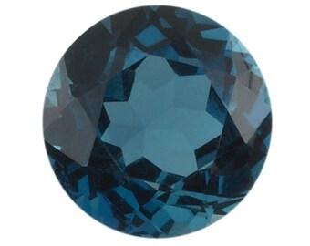 1 Round 4mm London Blue Topaz Stone, AA-Grade