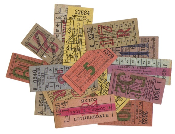 LONDON vintage tickets