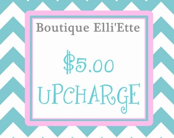 Five Dollar Upcharge for Knot Dresses, Peasant Dresses, Sash, Ruffle Pants