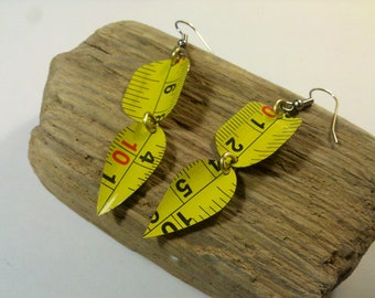Tape Measure Earrings