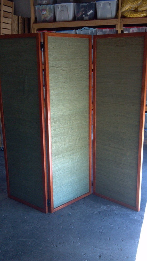 Reserved listing for the amazing Anthony Green, custom room divider screen with special fabric.