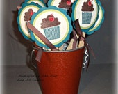 Cupcake Toppers -- Handmade Birthday Cupcake Toppers