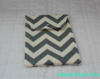 Diaper and Wipes Case Holder - Chevron - Gray