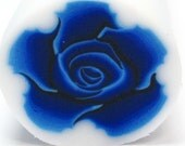 Deep blue Polymer clay ROSE cane