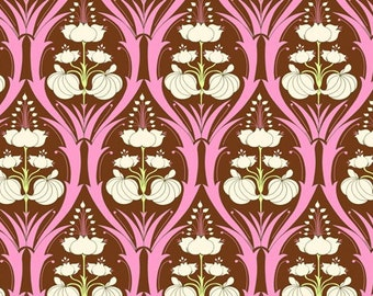 Amy Butler Soul Blossoms Fabric - 1 Yard Passion Lily in Mulberry