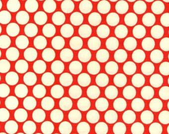 Amy Butler Fabric - Full Moon Polka Dot in Cherry Half Yard