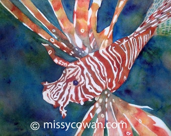 LION FISH - Original  Watercolor Painting