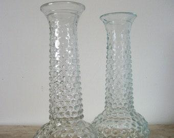 Pair Cutglass  Stem Vase (Homedecor)