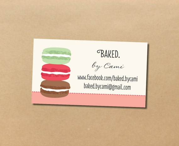 200 macaron business cards for carianne for 200 business cards