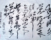CHINESE CALLIGRAPHY--  Spring Dawn