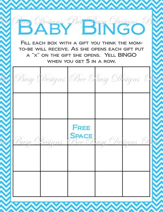 printable purple chevron baby shower bingo game instant download
