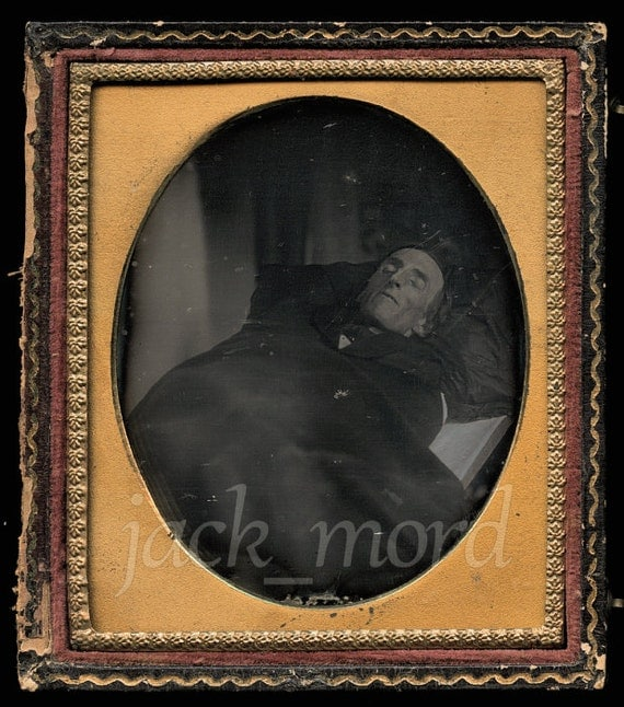 160 Year Old Daguerreotype / Post Mortem Man on Table