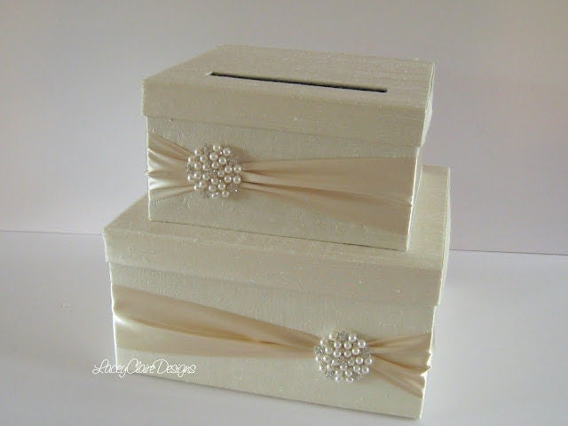 Wedding Card Box Money Holder Gift Card by LaceyClaireDesigns