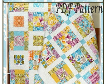 PDF Quilt pattern Elsie and Paige Sisters Forever two patterns in one