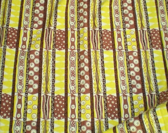 SALE Vintage barkcloth fabric MOD 1960's ABSTRACT Cotton curtains trailer