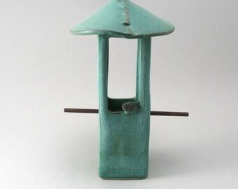 Bird Feeder, Ceramic Bird Feeder, Pottery Bird Feeder