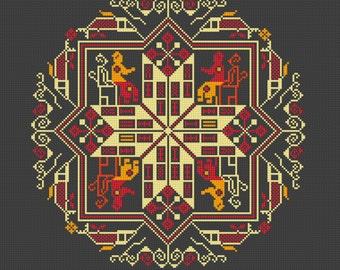 Instant download,free shipping,Cross stitch pattern, Cross-Stitch PDF, vintage chinese folk,old style pattern design ,zxxc0316
