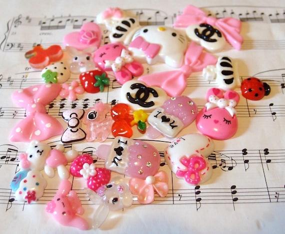 Wholesale Kawaii Cabochons Mix 30 Hello Kitty Head- Grab Bag 2