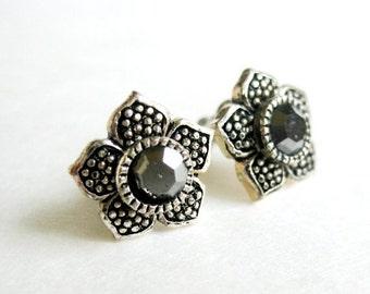 vintage peweter earrings