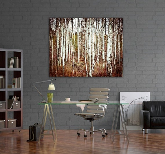 Aspen trees photographic art print wall art for home decor for Aspen tree wall mural