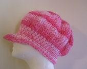Children's Pink Newsboy Cap