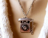 Give Me A Ring - An Old Fashioned Telephone Necklace in Antique Silver