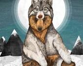 Wear Wolf // A3 print