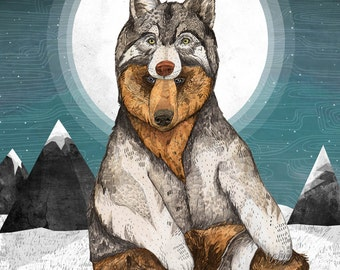 Wear Wolf // Signed A3 print
