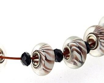 Big Hole 4.5mm 5Beads  Twist Lampwork bead Candy  Handmade jewelry designs European Style