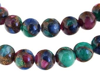 One strand  Rare Flower Jade Round Beads Gemstsone Strand 6mm Strand