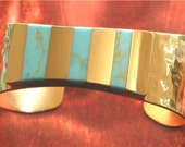 Custom Fit Turquoise Bracelet Cuff - Turquoise Jewelry for Women BR-72