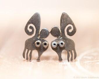 BUTTERFLY Stud Earrings Sterling Silver Mini Zoo