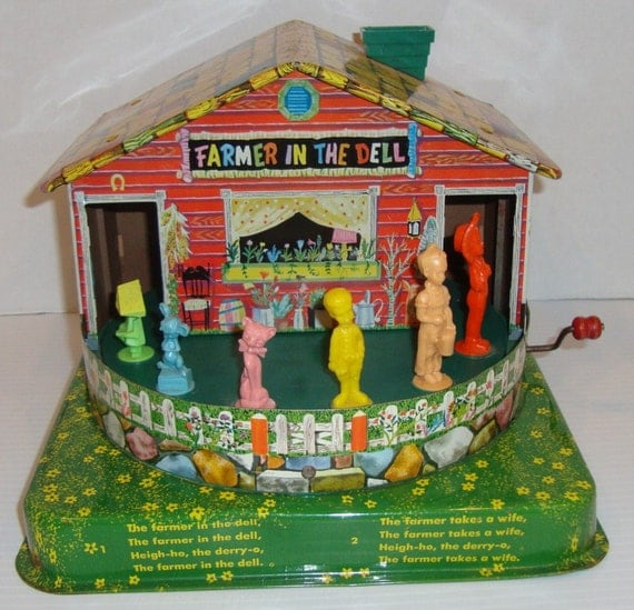 Old Mattel Toys : Vintage working the farmer in dell mattel music maker toy