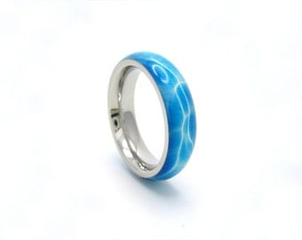 swimming pool ring, stainless steel and resin