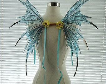 Fairy Wings-Iridescent Turquoise Adult and Children(Made to Order by Request)