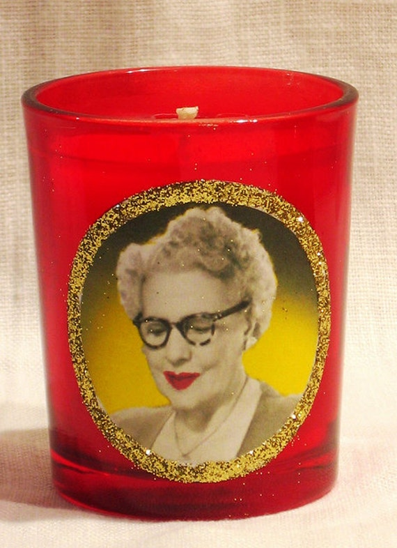 Millie, Patron Saint of Facial Hair - Beeswax Container Votive Candle