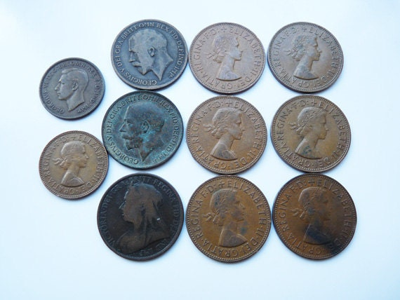 British Pennies and Halfpennies
