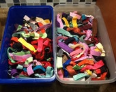Wholesale Bulk Grab Bag of 100 Solid Colored No Crease, No Pull Elastic Hair Ties or Bracelets
