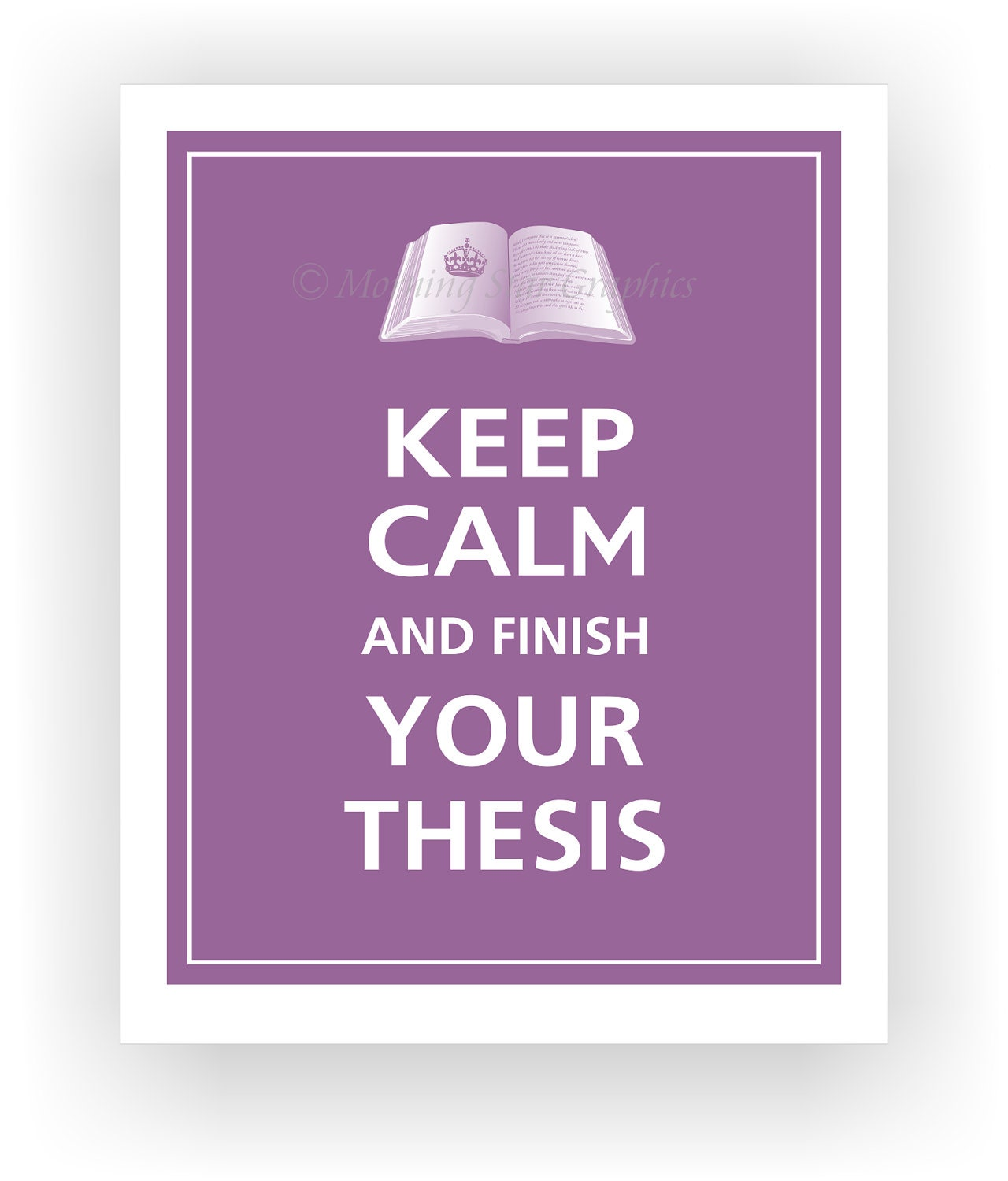 finish your thesis And no you're not going to pay anybody to write it for you educators, schools, & publishers your work in its commercial electronic database, proquest theses and.
