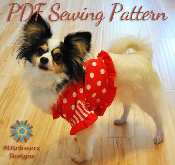 DOG CLOTHES SEWING Pattern, Small Dog T Shirt Pattern, Dog Hoodie Pattern, Digital Pdf Sewing Pattern, 5 sizes included