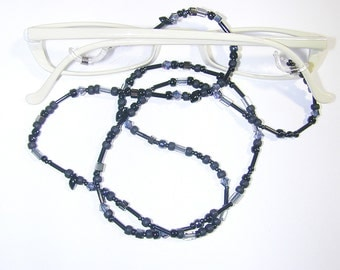 JBB Beaded Eyeglass Leash Black