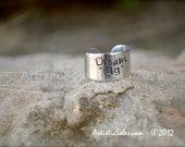 Custom Stamped Adjustable Ring - Dream Big